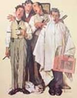 "Norman Rockwell Print ""Sharp Harmony"""