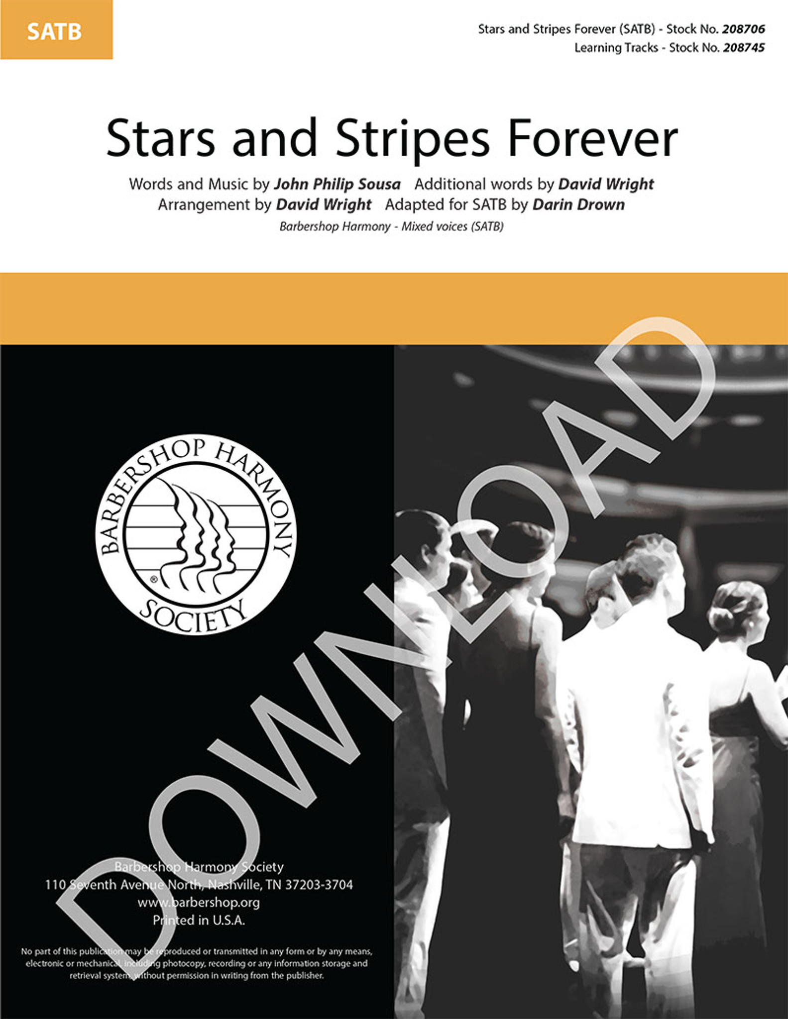 Stars and stripes forever: descant recorder, guitar sheet music.