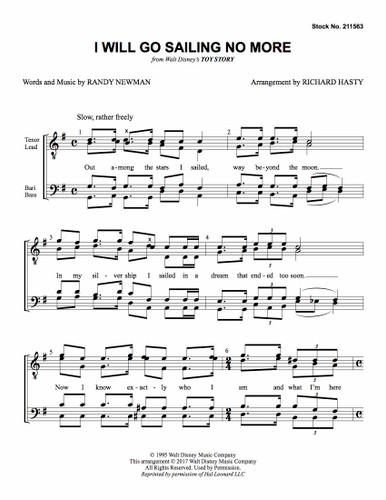 I Will Go Sailing No More (TTBB) (arr. Hasty) - Download