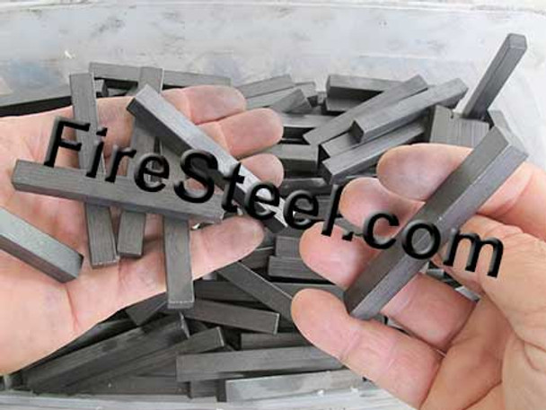 The FireSteel.com Square FireSteel series includes the 3/8 x 3/8 x 3-inch FireSteel