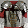 "AB0006, ""18 Gauge Steel Roman Lorica"" by SAY, Free Shipping, MSRP ($269.00)"