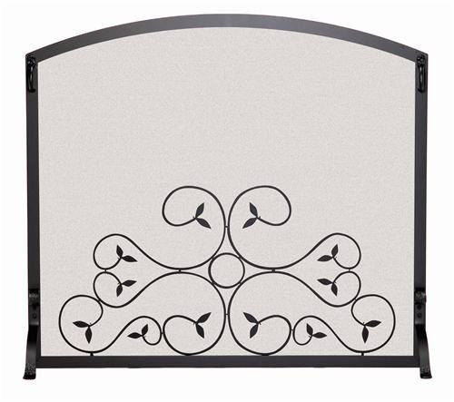 "18277, ""Single panel fireplace screen"", by Pilgrim Home And Hearth, Free Shipping, MSRP ($339.00) matte black finish"
