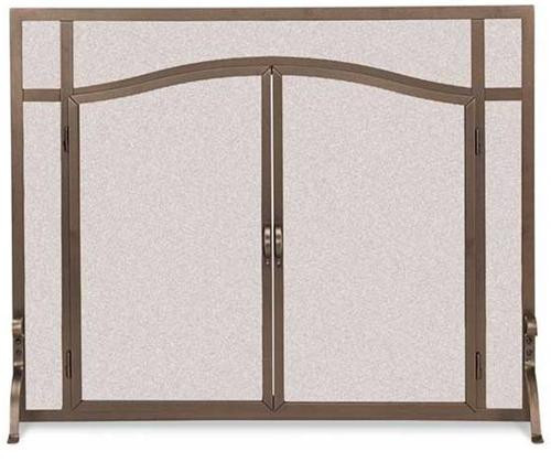 "18440, ""FGND arched operable doors"", by Pilgrim Home And Hearth, Free Shipping, MSRP ($419.00), steel fireplace screen"