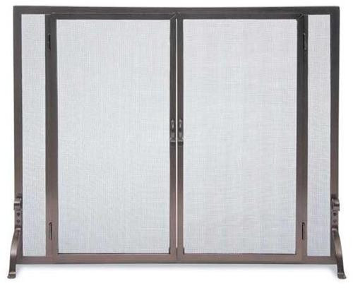 "FGND, ""Solid Iron Steel Screen"", by Pilgrim Home And Hearth, Free Shipping, MSRP ($379.00), Full Height Operable Doors"