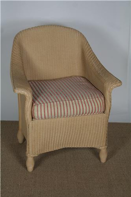 "25001, ""Embassy"", by Lloyd Flanders, Free Shipping, MSRP ($1,027.00), wicker dining chair with cushions"