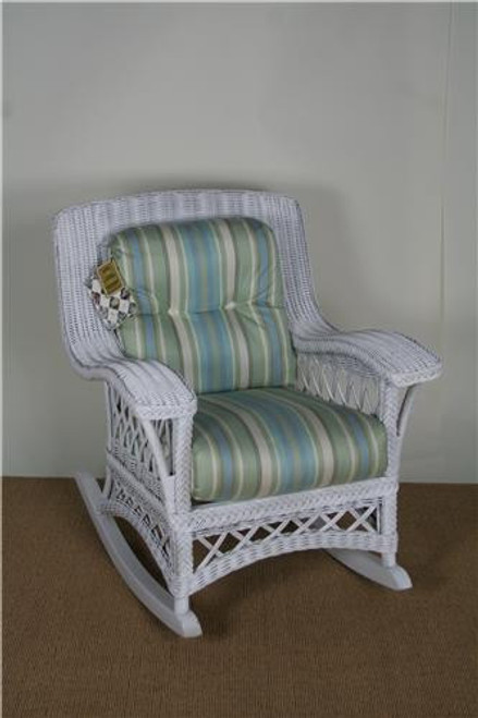 "312-47, ""Chandler Bay"", by Lane Venture, Free Shipping, MSRP ($1,953.00), natural wicker rocker with cushions"