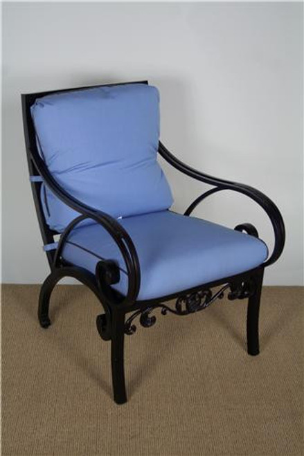"3300-2000, ""Grand Via"", by Brown Jordan, Free Shipping, MSRP ($2,060.00), aluminum dining arm chair with cushions"