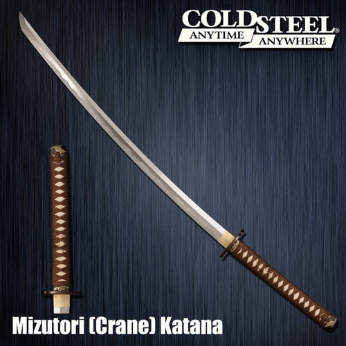 "CS88CKK, ""Damascus Mizutori Crane Katana"", by Cold Steel Inc., Free Shipping MSRP ($769.95)"