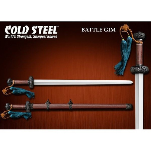 "CS88FG, ""Damascus Steel Battle Gim Sword"", by Cold Steel Inc., Free Shipping, MSRP ($799.95)"