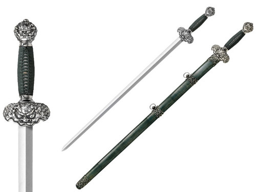 "CS88RLG, ""Damascus Jade Lion Gim Sword"", by Cold Steel Inc., Free Shipping, MSRP ($799.95)"