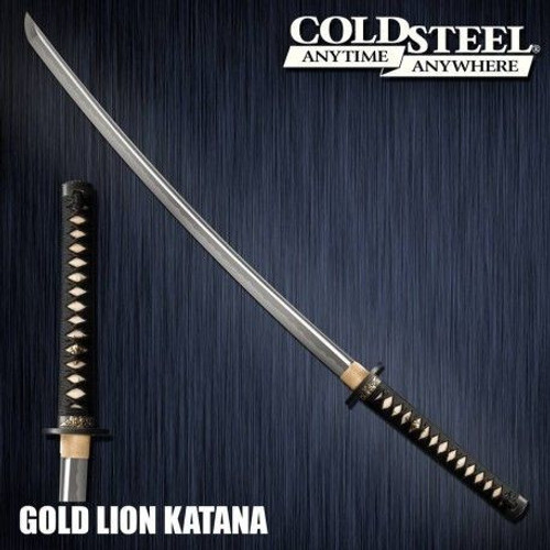 "CS88ABK, ""Golden Lion Katana"", by Cold Steel Inc., Free Shipping, MSRP ($899.95), Damascus Steel"
