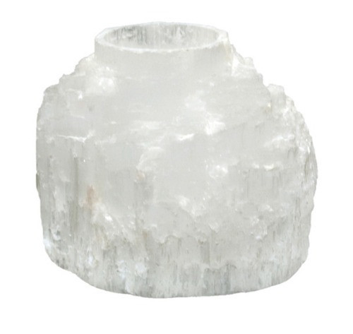 "TLSE, ""Selenite Mountain Candle Holder"", by Nature's Expression, Free Shipping, MSRP ($30.00)"