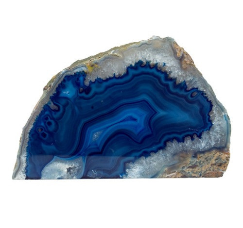 "TLAB, ""Agate Geode Blue Candle Holder"", by Nature's Expression, MSRP ($36.00)"