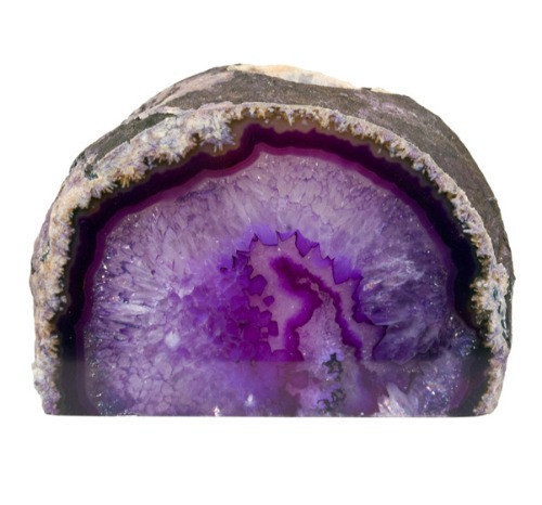 "TLAP, ""Agate Geode Purple Candle Holder"" by Nature's Expression, Free Shipping, MSRP ($36.00)"