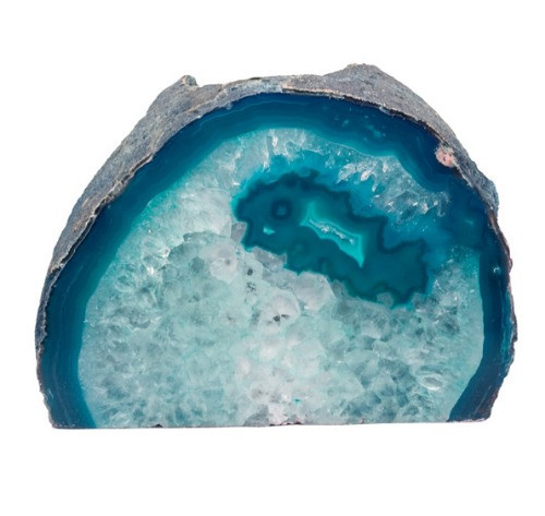 "TLAT, ""Agate Geode Teal Candle Holder"" by Nature's Expression, Free Shipping, MSRP ($36.00)"