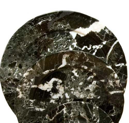 "PBZL, ""Black Zebra Marble 10"" Plates"", by Nature's Expression, Free Shipping, MSRP ($60.00)"