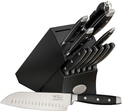 """HRI028, """"Kitchen Knife Set"""", by  Hen & Rooster Knives, Free Shipping, MSRP ($81.95), 13 Piece"""