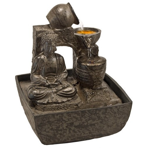 "FTBS, ""Meditation Buddha Light Fountain"" by Nature's Expression, Free Shipping, MSRP ($72.00)"