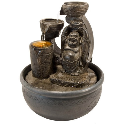 "FTHB, ""Happy Buddha Light Fountain"" by Nature's Expression, Free Shipping, MSRP ($72.00)"