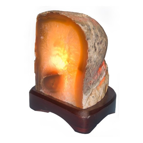 "NALP, ""Natural Agate Lamp"" by Nature's Expression, Free Shipping, MSRP ($75.00)"
