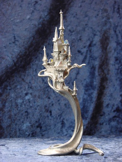 "S279, ""Castle From The Magic Mist"", by Perth Pewter, Free Shipping, MSRP ($65.00), S-Series Large Fantasy Pewter Figurine"
