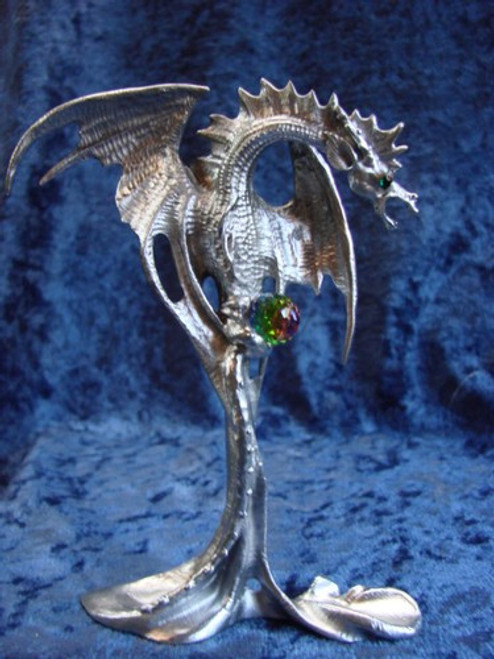 """S277, """"Dragon From The Magic Mist"""", by Perth Pewter, Free Shipping, MSRP ($65.00), S-Series Large Fantasy Pewter Figurine"""