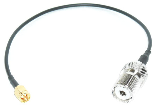 10 Inch   SMA-Male to UHF-Female Coax Cable Pigtail for Wouxun KG-UV6D