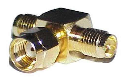 RP-SMA Tee Coaxial Adapter Connector - Reverse SMA