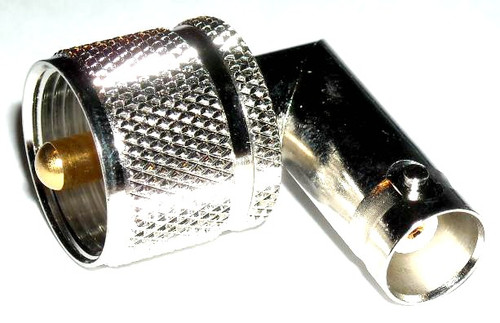 UHF-Male to BNC-Female Right Angle Elbow Coaxial Adapter Connector