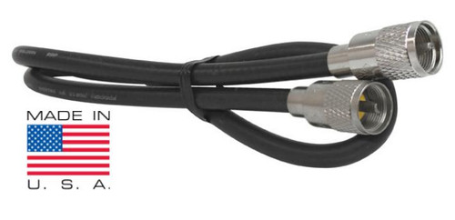15-Foot RG8X Coaxial Cable Assembly Low-Loss 95% Shield PL-259 Mini-8