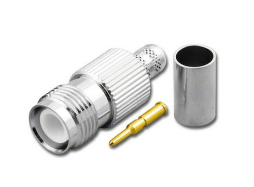 RP-TNC Straight Female Jack Crimp Connector fits RG8X Coaxial Cable