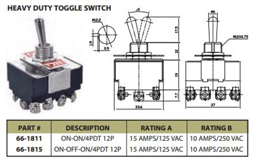 Prong Toggle Switch Wiring Diagram A Vac on