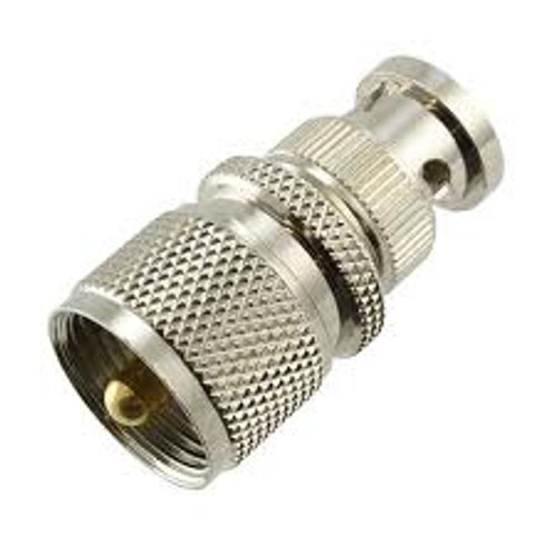 BNC-Male to PL-259 UHF-Male Coaxial Adapter Connector