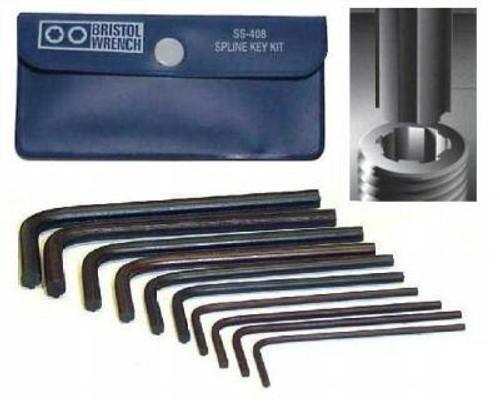 SS-408 - Bristol Spline Wrench - 10-Piece Set