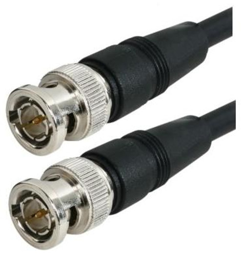 2-FT - RG-59 Black Molded BNC Stranded Center Conductor Coaxial Cable