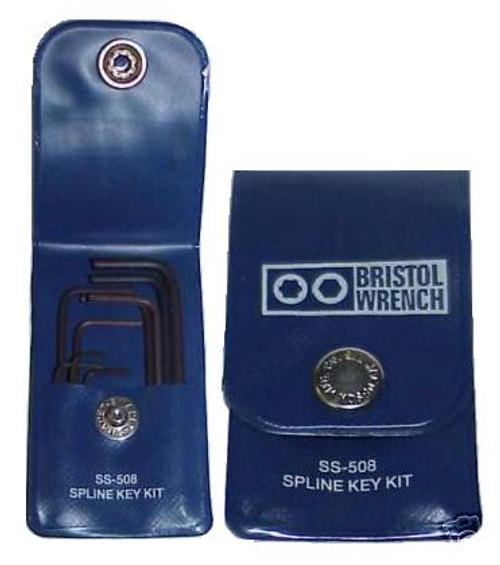 Bristol SS-508 - 9-Piece Spline Key Wrench Tool Set for Collins Radios
