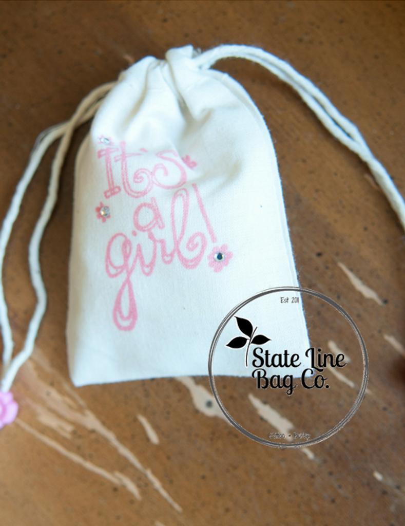 "3.25"" x 5"" Premium Double - Drawstring Cotton Muslin Bags"