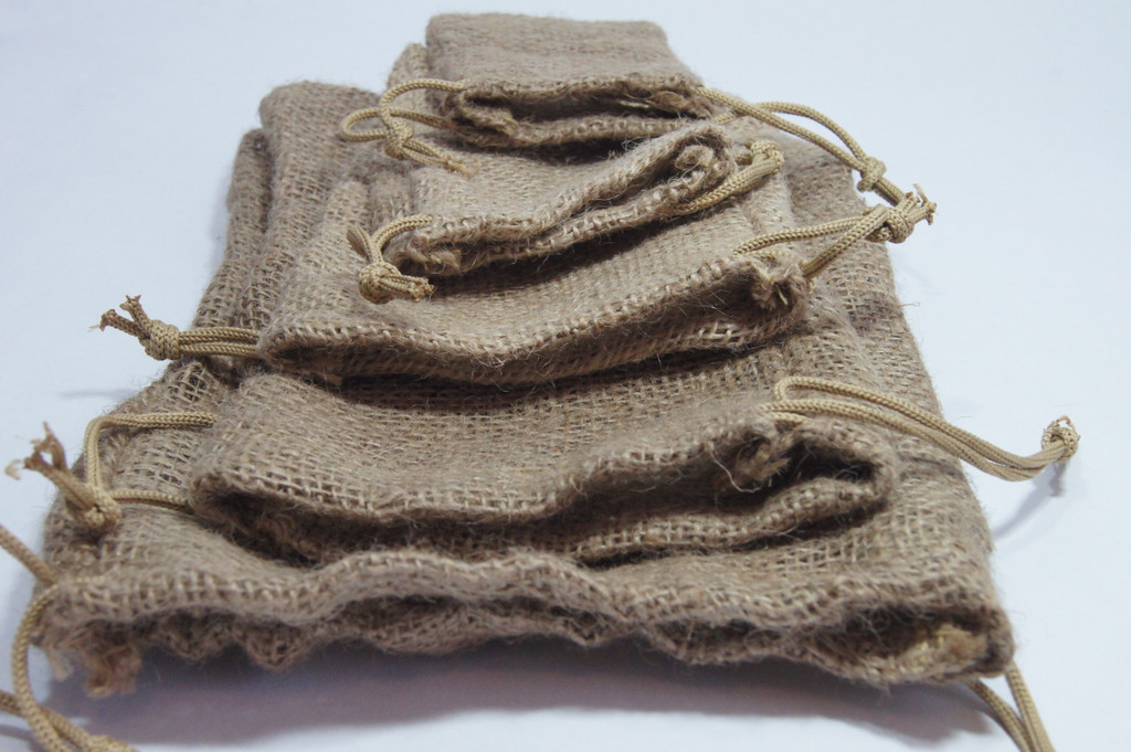 Burlap Drawstring Bags