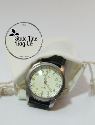 Premium Double - Drawstring Cotton Muslin Bag