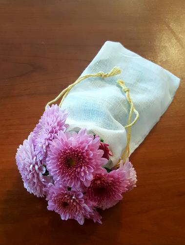 "3.25"" X 5"" Economy Single - Drawstring Cotton Muslin Bags"