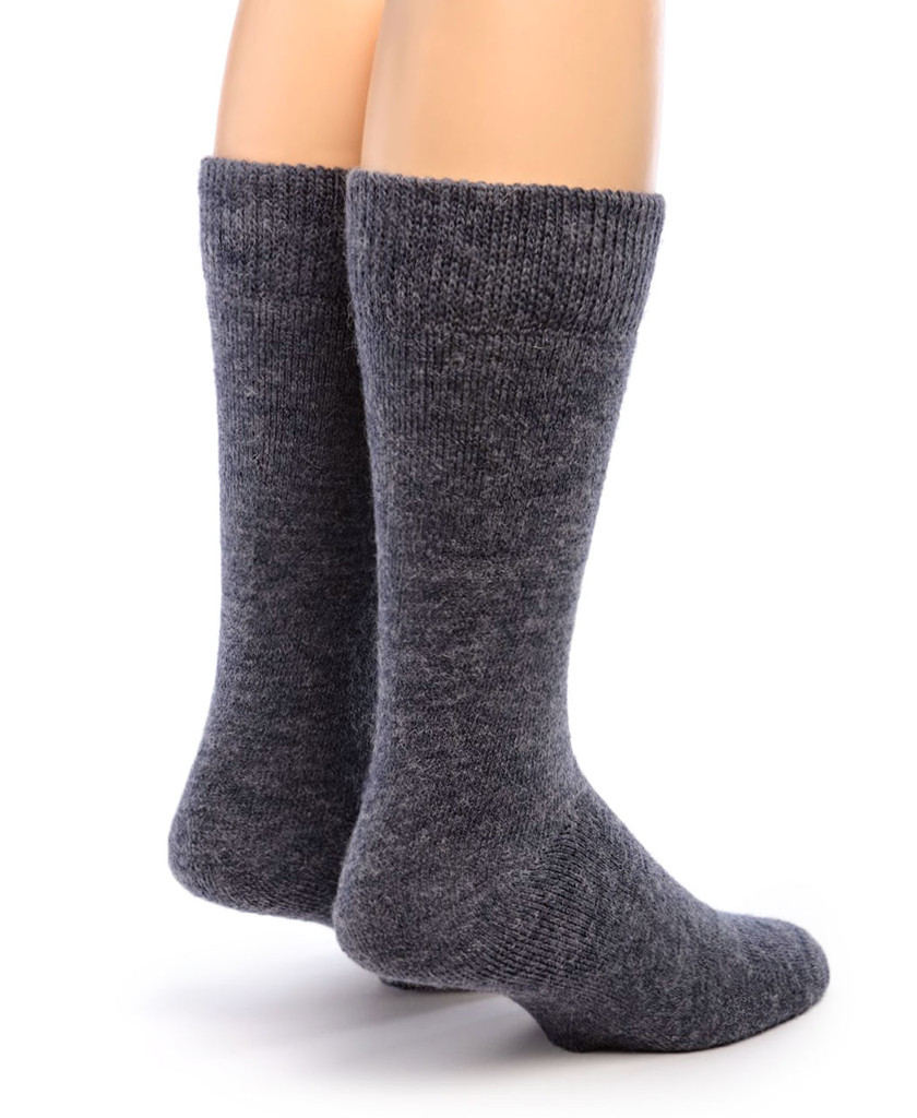 Outdoor Terry Lined Alpaca Socks Back