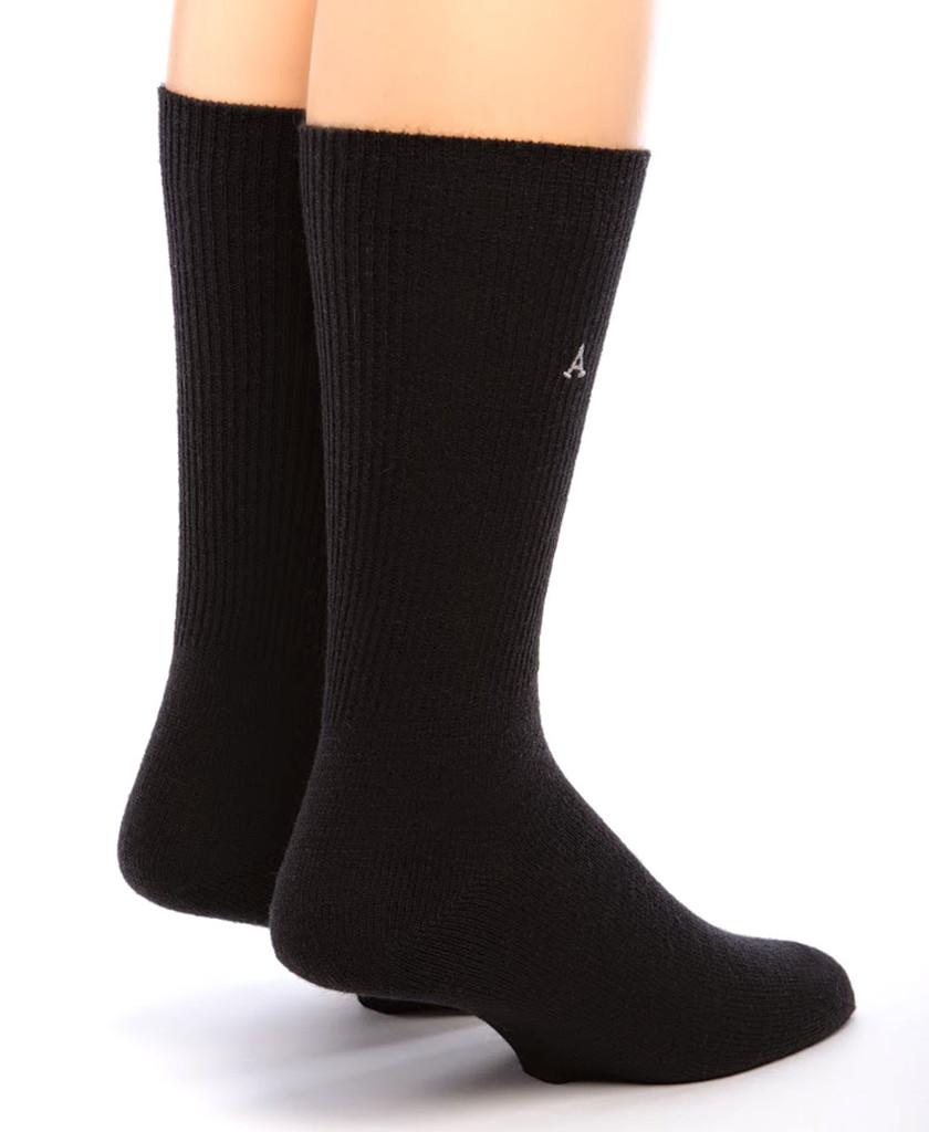 Baby Alpaca Dress Socks Back Black