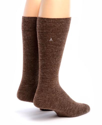 Trouser Alpaca Socks Back Walnut