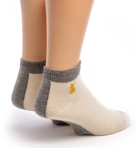Light Mini Crew Alpaca Socks Back