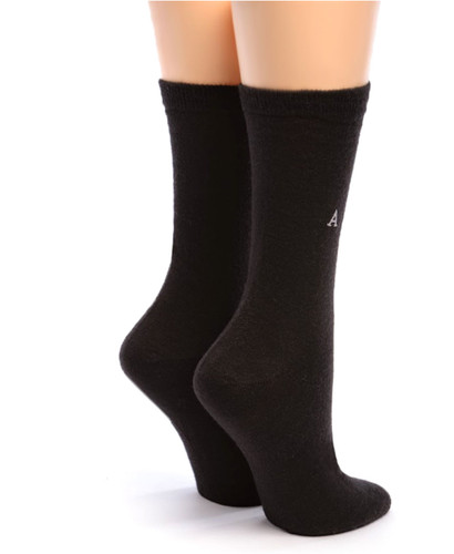 Women's Trouser Alpaca Socks Black Back