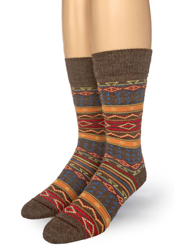 Tribal Alpaca Socks  Front