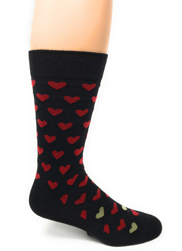Alpaca Found Hearts Socks Side