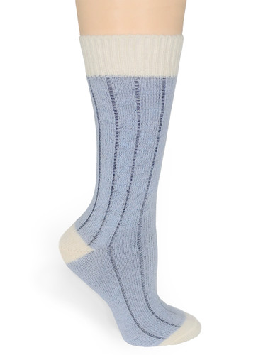Color Block Baby Alpaca Comfort Socks Side