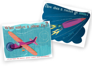 What makes a plane fly? + How does a rocket go ZOOM? - 2 print set