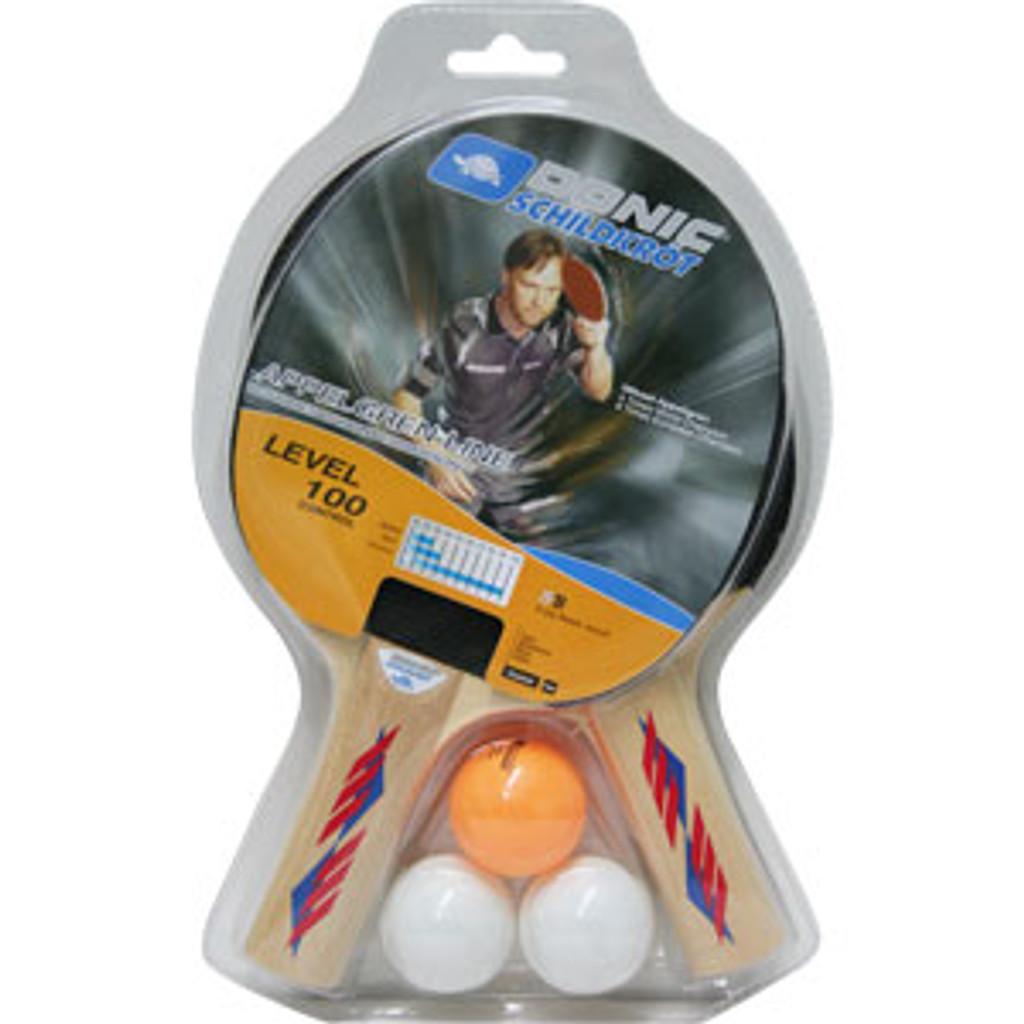 DONIC Schildkröt Appelgren Level 100 Two Player Racket Set Ping Pong Depot Table Tennis Equipment